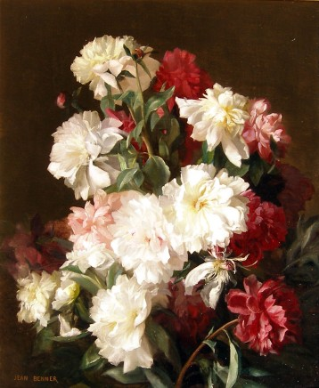 Jean Benner, A pair of flower paintings: I: Study of Roses