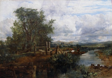 Frederick William Watts, Landscape with ruined castle