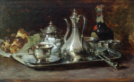 Guillaume Fouace, Still life with a silver jug