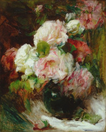 Georges Jeannin, Study of red and white roses