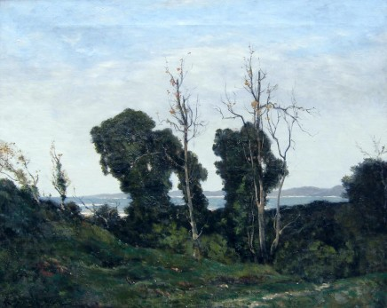 Henri-Joseph Harpignies, Landscape in Evening Light