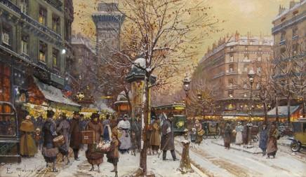 Eugene Galien Laloue, Porte St Denis