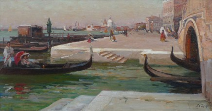 Paul-Michel Dupuy, Venetian canal at dusk