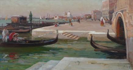 Paul-Michel Dupuy, Venetian canal at dusk