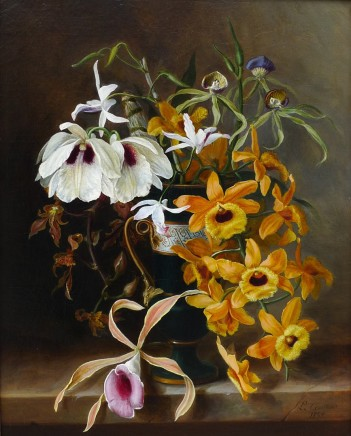 Louis Constans, Still life of orchids