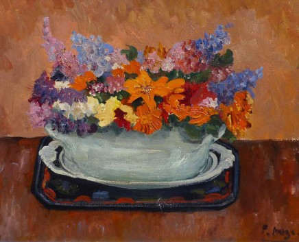 Paul Maze, Wild flowers in a green bowl