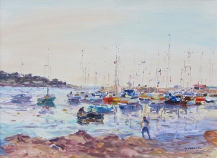 Gaston Sebire, Boats in a bay