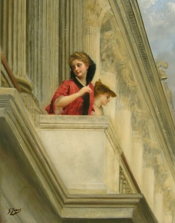 Gustave Jean Jacquet, Women on a classical balcony