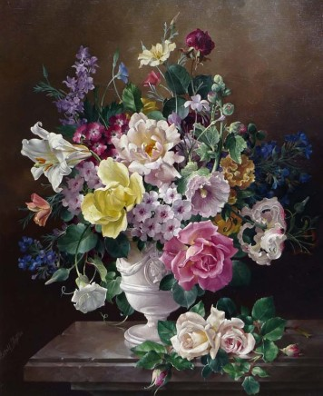Harold Clayton, Still life of flowers