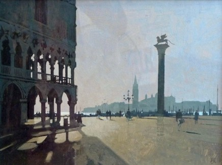 Peter Kelly, Shadows across the Piazza