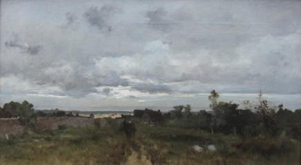 Leon Germain Pelouse, Carriole dans un paysage