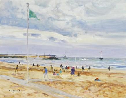 Gaston Sebire, A la plage
