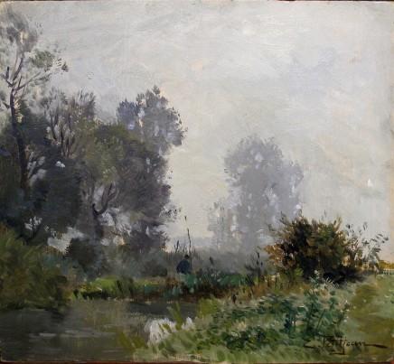 Edmond Marie Petitjean, Study of a landscape