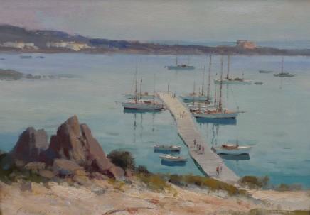 Edward Seago, The Pontoon, Porto Cervo, Sardinia