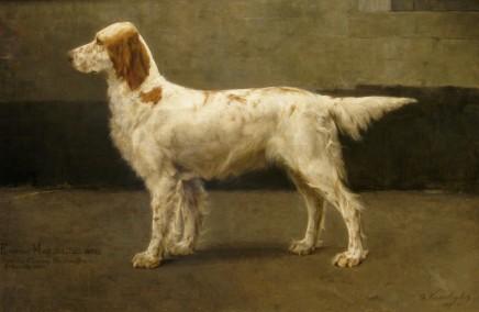 Charles Van Den Eycken, Pair of dog portraits (II of II) , 1885