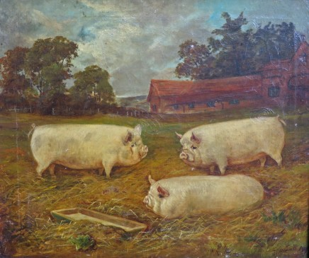 E.S England, Three Large Pigs
