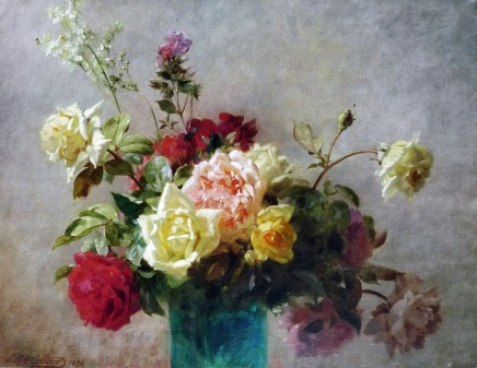 Émile-Gustave Couder, Peonies and Roses