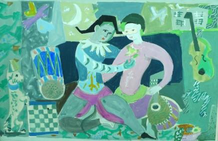 Roger Bezombes, Arlequinade (Pink Version), 1949-1952