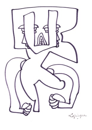 Charles Lapicque, Colère Rentrée