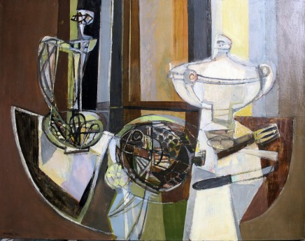 Georges Dayez, Still life with a soup tureen
