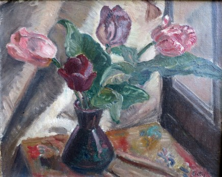 Manuel Ortiz De Zarate, Flowers in a Vase