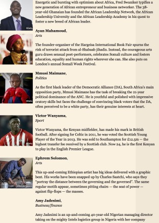 25 Africans to watch