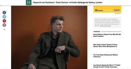 Ruprecht von Kaufmann: 'Event Horizon' at Kristin Hjellegjerde Gallery, London