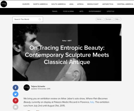 On Tracing Entropic Beauty: Contemporary Sculpture Meets Classical Antique