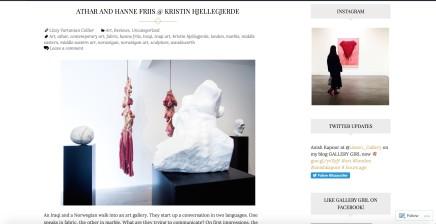 Athar and Hanne Friis @ Kristin Hjellegjerde
