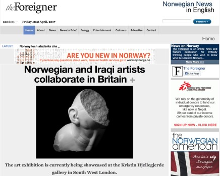 Norwegian and Iraqi artists collaborate in Britain