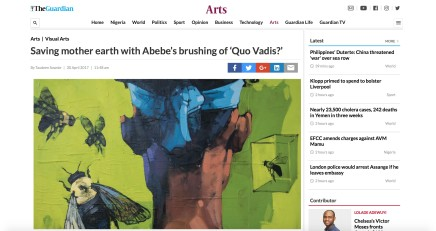 Saving Mother Earth With Abebe's brushing of 'Quo Vadis?'