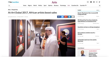 At Art Dubai 2017, African artists boost sales