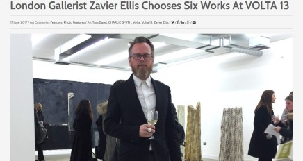London Gallerist Zavier Ellis Chooses Six Works At VOLTA 13