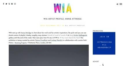 WIA ARTIST PROFILE: ANNIE ATTRIDGE