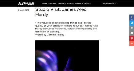 Studio Visit: James Alec Hardy
