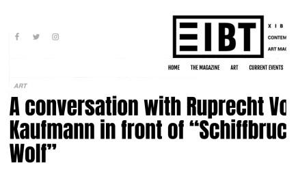 A conversation with Ruprecht Von Kaufmann
