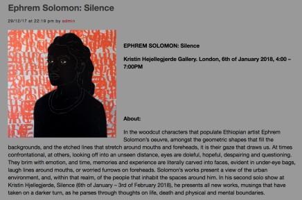 Ephrem Solomon: Silence