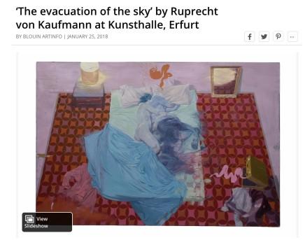 'The evacuation of the sky' by Ruprecht von Kaufmann at Kunsthalle, Erfurt