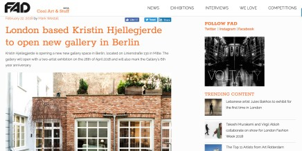 London Based Kristin Hjellegjerde to Open new Gallery in Berlin