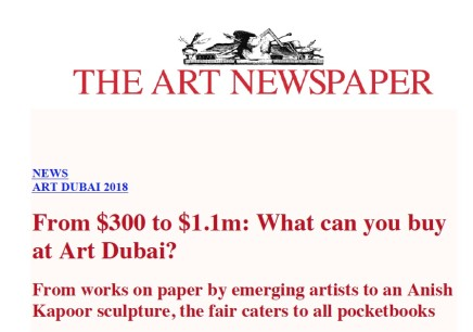 From $300 to $1.1m: What can you buy at Art Dubai?