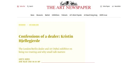 Confessions of a dealer: Kristin Hjellegjerde