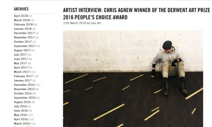 ARTIST INTERVIEW: CHRIS AGNEW WINNER OF THE DERWENT ART PRIZE 2016 PEOPLE'S CHOICE AWARD