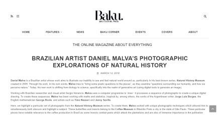 BRAZILIAN ARTIST DANIEL MALVA'S PHOTOGRAPHIC EXPLORATIONS OF NATURAL HISTORY