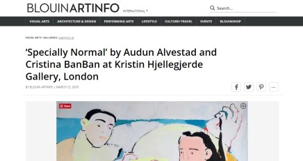 'Specially Normal' by Audun Alvestad and Cristina BanBan at Kristin Hjellegjerde Gallery, London