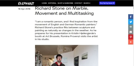 Richard Stone on Marble, Movement and Multitasking