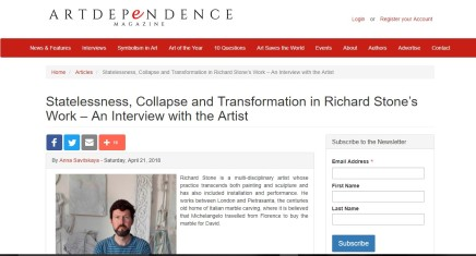 Statelessness, Collapse and Transformation in Richard Stone's Work – An Interview with the Artist