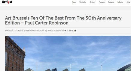 Art Brussels Ten Of The Best From The 50th Anniversary Edition – Paul Carter Robinson
