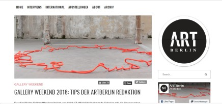 GALLERY WEEKEND 2018: TIPS DER ARTBERLIN REDAKTION