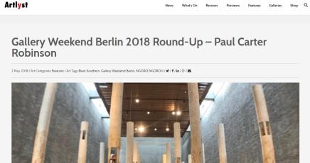 Gallery Weekend Berlin 2018 Round-Up – Paul Carter Robinson