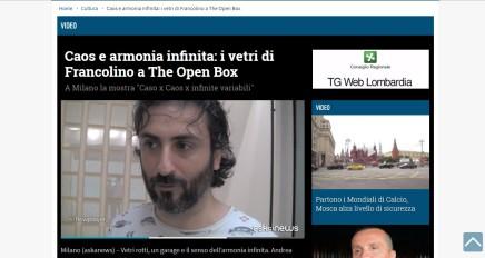Caos e armonia infinita: i vetri di Francolino a The Open Box